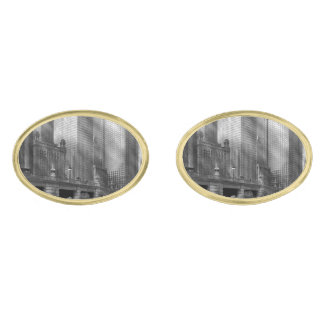City - Chicago IL - Continuing a Legacy BW Gold Cufflinks