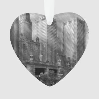 City - Chicago IL - Continuing a Legacy BW Ornament