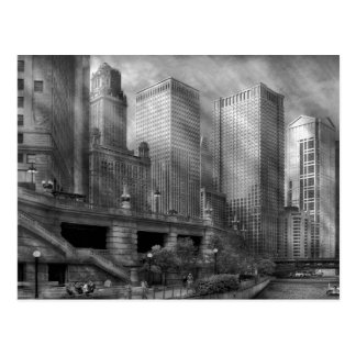 City - Chicago IL - Continuing a Legacy BW Postcard