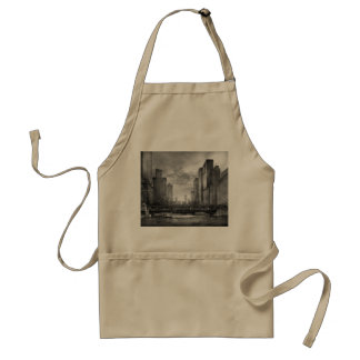 City - Chicago, IL - Looking toward the future BW Aprons