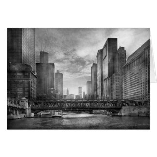 City - Chicago, IL - Looking toward the future BW Card