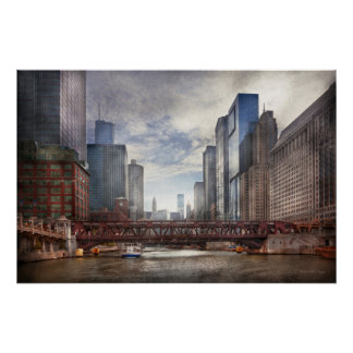 City - Chicago, IL - Looking toward the future Poster