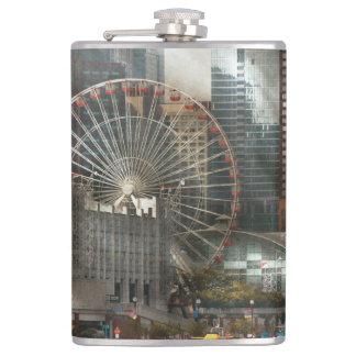 City - Chicago, IL - Pier Pressure Flask