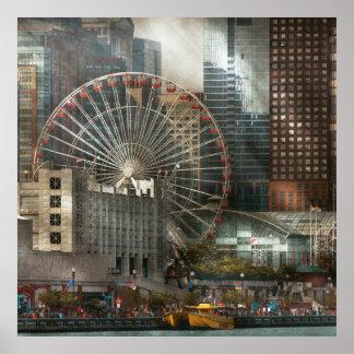 City - Chicago, IL - Pier Pressure Poster