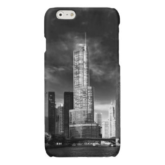 City - Chicago IL - Trump Tower BW Glossy iPhone 6 Case