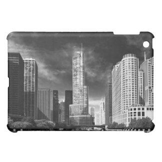 City - Chicago IL - Trump Tower BW iPad Mini Cases