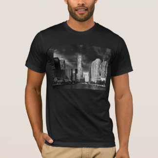 City - Chicago IL - Trump Tower BW T-Shirt
