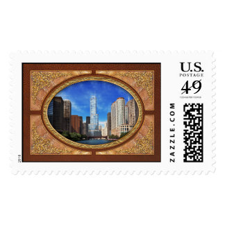 City - Chicago IL - Trump Tower Stamp