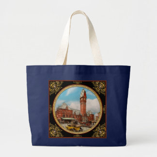 City - Chicago Ill - Dearborn Station 1910 Large Tote Bag