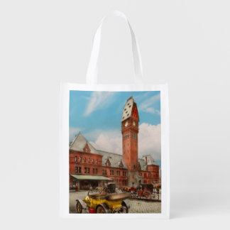 City - Chicago Ill - Dearborn Station 1910 Reusable Grocery Bag