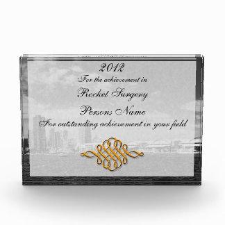 City - Chicago Skyline & The Navy Pier BW Award