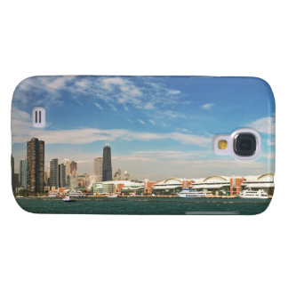 City -  Chicago Skyline & The Navy Pier Galaxy S4 Cover
