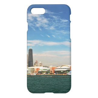 City -  Chicago Skyline & The Navy Pier iPhone 7 Case