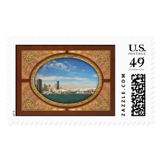 City -  Chicago Skyline & The Navy Pier Postage