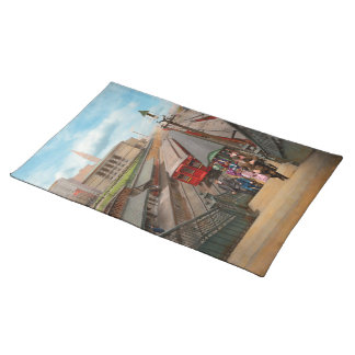 City - Chicago - The Van Buren Street Station 1907 Placemat