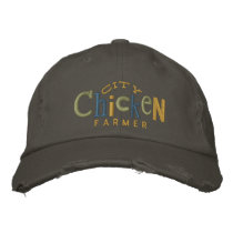 City Chicken Farmer Embroidery Hat