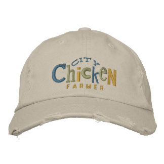 City Chicken Farmer Embroidery Hat Embroidered Hat