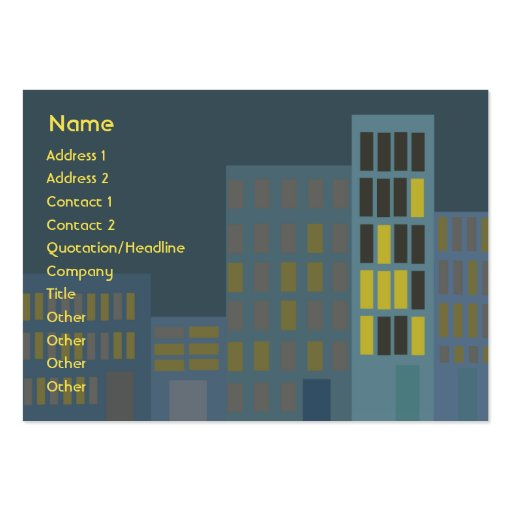 City - Chubby Large Business Card