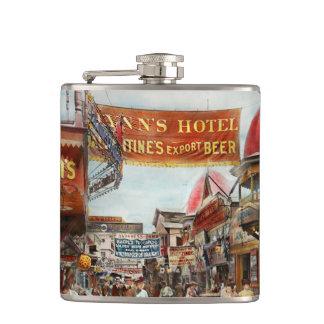 City - Coney Island NY - Bowery Beer 1903 Flask