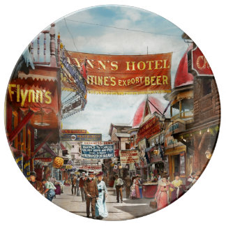 City - Coney Island NY - Bowery Beer 1903 Plate