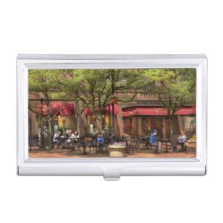 City - Corning NY - Lunch at Centerway Square Business Card Case