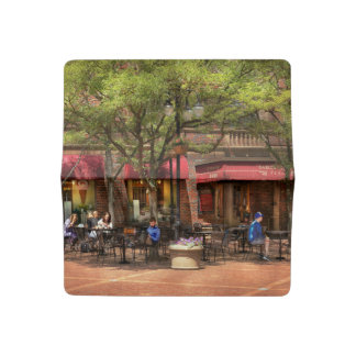 City - Corning NY - Lunch at Centerway Square Checkbook Cover