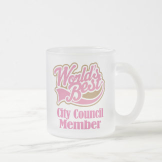 City Council Member Gift (Worlds Best) Frosted Glass Coffee Mug