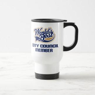 City Council Member Gift (Worlds Best) 15 Oz Stainless Steel Travel Mug