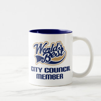 City Council Member Gift (Worlds Best) Two-Tone Coffee Mug