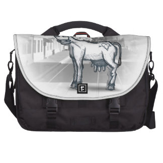 city cow laptop messenger bag