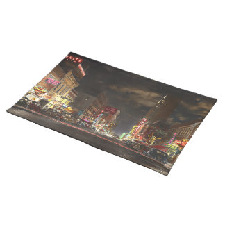 City - Dallas TX - Elm street at night 1941 Placemat