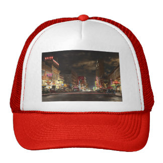 City - Dallas TX - Elm street at night 1941 Trucker Hat