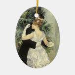 City Dance by Pierre Renoir, Vintage Fine Art Ceramic Ornament