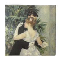 City Dance by Pierre Renoir, Vintage Fine Art Ceramic Tile