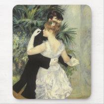 City Dance by Pierre Renoir, Vintage Fine Art Mouse Pad