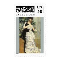 City Dance by Pierre Renoir, Vintage Fine Art Postage