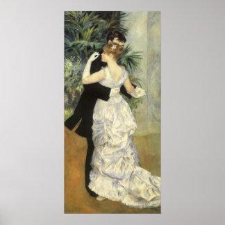 City Dance by Pierre Renoir, Vintage Fine Art Poster