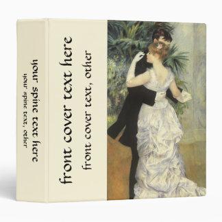 City Dance by Renoir, Vintage Impressionism Art Vinyl Binders