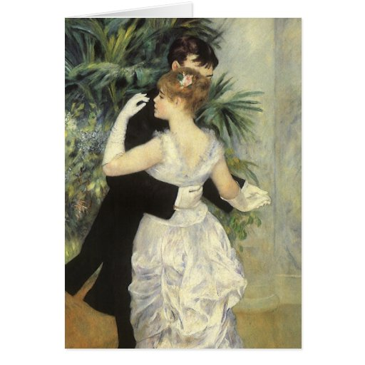 City Dance by Renoir, Vintage Impressionism Art Cards