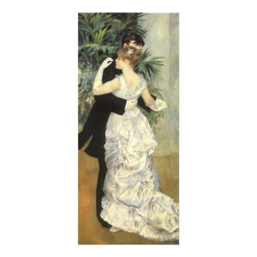 City Dance by Renoir, Vintage Impressionism Art Personalized Invitation