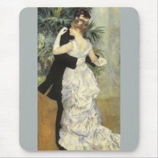 City Dance by Renoir, Vintage Impressionism Art Mousepads