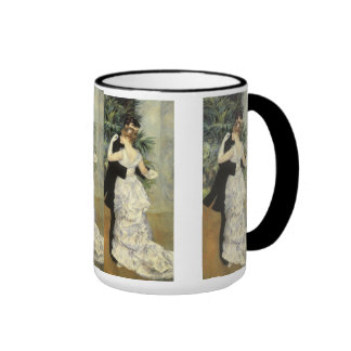 City Dance by Renoir, Vintage Impressionism Art Ringer Coffee Mug