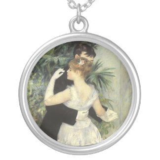 City Dance by Renoir, Vintage Impressionism Art Custom Necklace