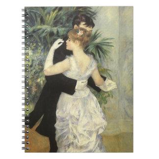 City Dance by Renoir, Vintage Impressionism Art Note Book
