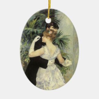 City Dance by Renoir Vintage Impressionism Art Christmas Tree Ornament
