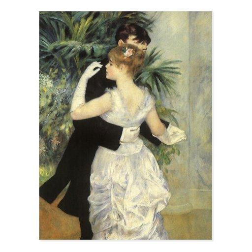 City Dance by Renoir, Vintage Impressionism Art Postcards