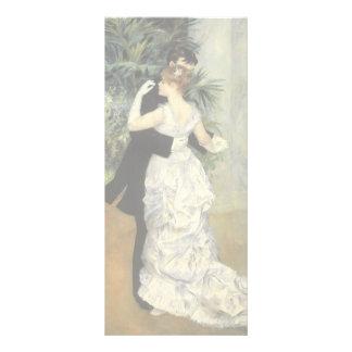 City Dance by Renoir, Vintage Impressionism Art Rack Card Design