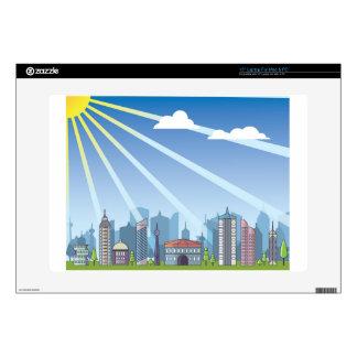 """City daylight 15"""" laptop skins"""