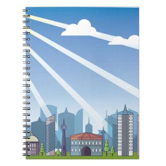 City daylight notebook