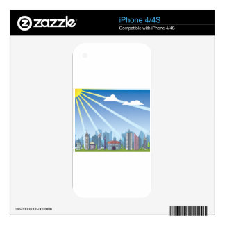 City daylight skin for iPhone 4